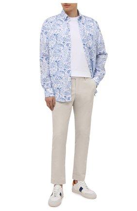 Мужские хлопковые брюки POLO RALPH LAUREN серого цвета, арт. 710644988 | Фото 2 (Длина (брюки, джинсы): Стандартные; Материал внешний: Хлопок; Стили: Кэжуэл; Случай: Повседневный; Силуэт М (брюки): Чиносы)