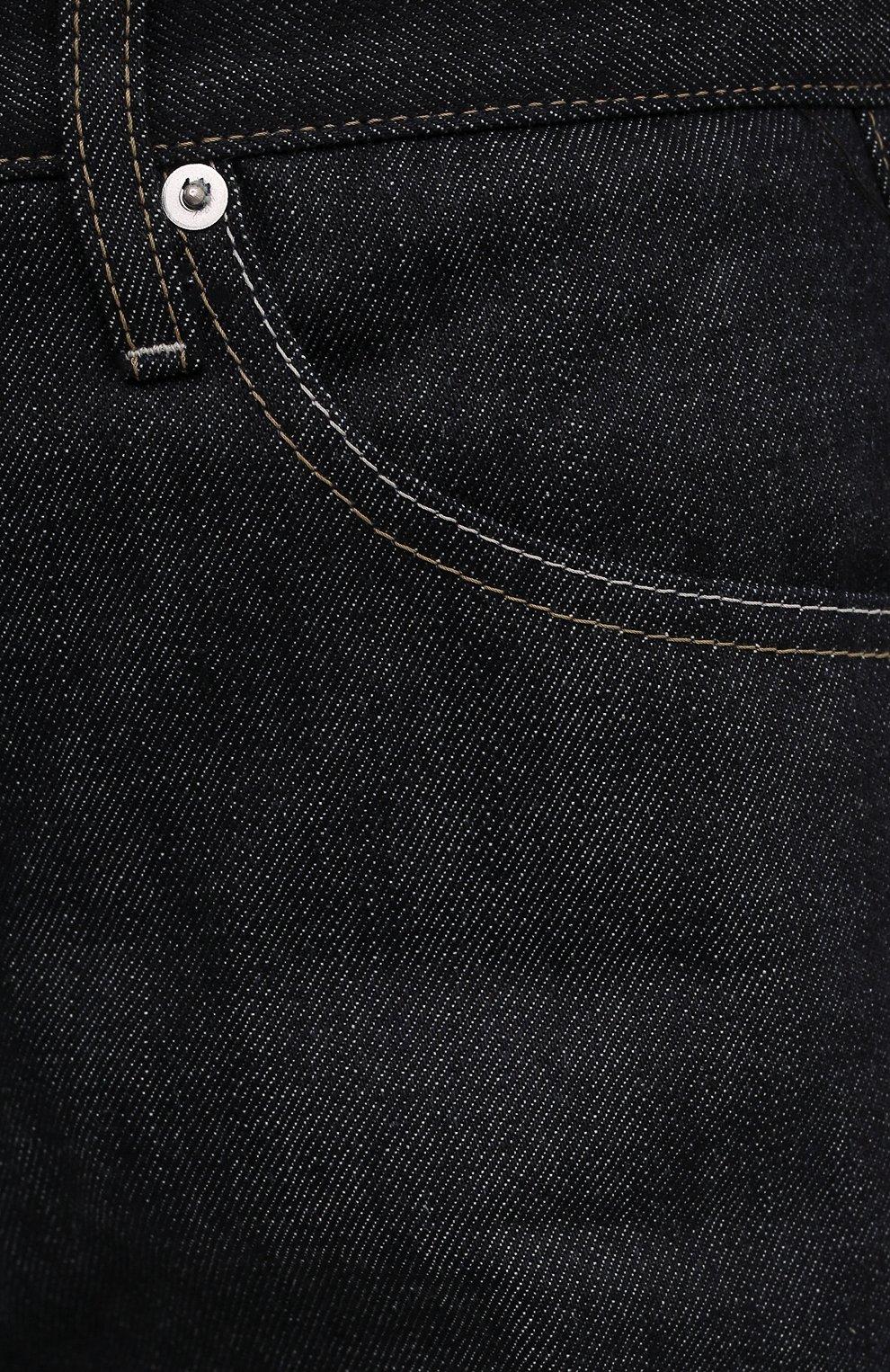Женские джинсы JIL SANDER синего цвета, арт. JPPS663102-WS246700   Фото 5 (Кросс-КТ: Деним; Длина (брюки, джинсы): Стандартные; Материал внешний: Хлопок; Силуэт Ж (брюки и джинсы): Бойфренды; Стили: Кэжуэл)