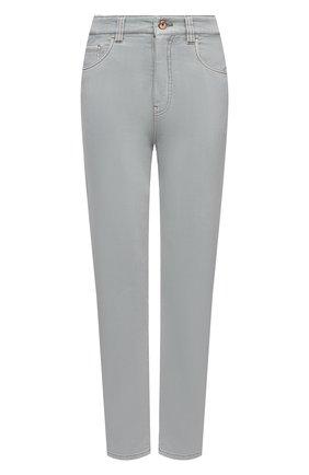 Женские джинсы BRUNELLO CUCINELLI серо-голубого цвета, арт. MP93PP5596   Фото 1