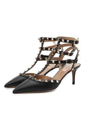 Женские кожаные туфли rockstud VALENTINO черного цвета, арт. VW0S0375/VCE | Фото 1
