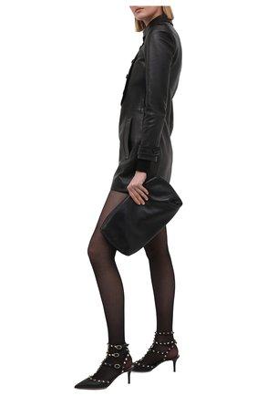 Женские кожаные туфли rockstud VALENTINO черного цвета, арт. VW0S0375/VCE | Фото 2