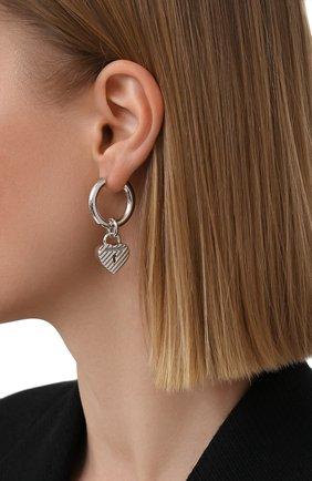 Женские серьги BALENCIAGA серебряного цвета, арт. 644518/J8400 | Фото 2