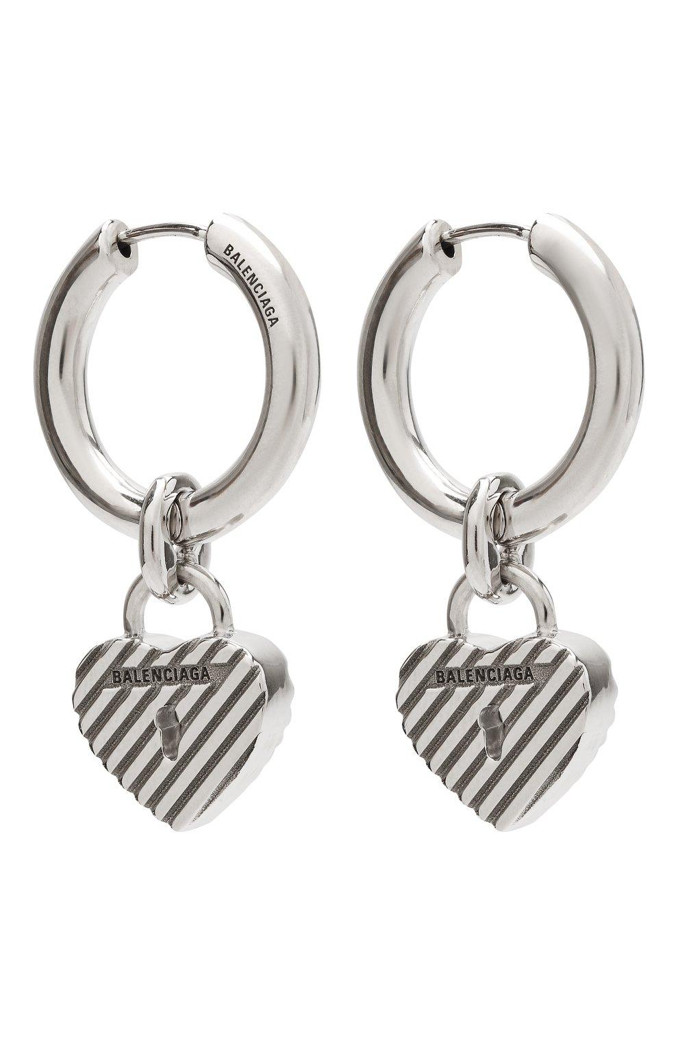 Женские серьги BALENCIAGA серебряного цвета, арт. 644518/J8400 | Фото 3