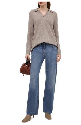 Женский кашемировый пуловер FTC коричневого цвета, арт. 820-0470   Фото 2