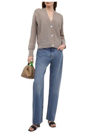 Женский кашемировый кардиган FTC коричневого цвета, арт. 830-0200   Фото 2
