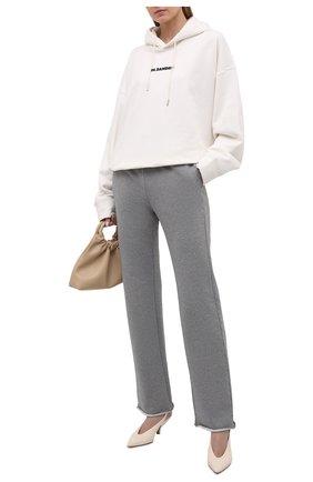 Женские брюки MM6 серого цвета, арт. S62KB0072/S25337 | Фото 2