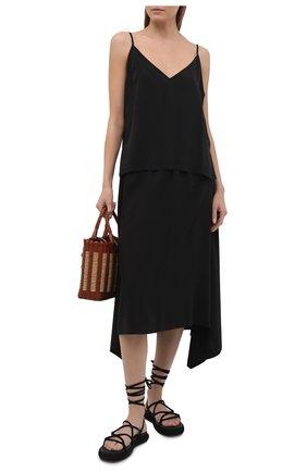 Женская юбка из вискозы 5PREVIEW черного цвета, арт. 5PW21107 | Фото 2