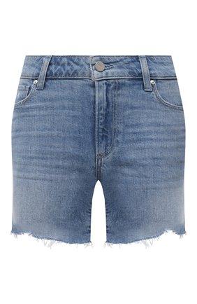 Женские джинсовые шорты PAIGE синего цвета, арт. 5140635-4995 | Фото 1 (Материал внешний: Хлопок, Деним; Женское Кросс-КТ: Шорты-одежда; Длина Ж (юбки, платья, шорты): Мини)
