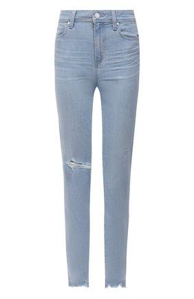 Женские джинсы PAIGE голубого цвета, арт. 3757F46-4851 | Фото 1