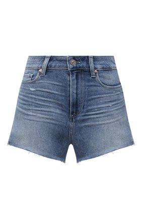 Женские джинсовые шорты PAIGE синего цвета, арт. 2800E77-4286 | Фото 1 (Материал внешний: Хлопок, Деним; Женское Кросс-КТ: Шорты-одежда; Длина Ж (юбки, платья, шорты): Мини)