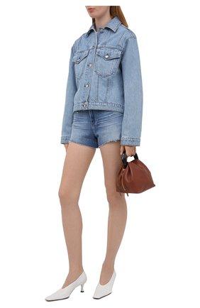 Женские джинсовые шорты PAIGE синего цвета, арт. 2800E77-4286 | Фото 2 (Материал внешний: Хлопок, Деним; Женское Кросс-КТ: Шорты-одежда; Длина Ж (юбки, платья, шорты): Мини)