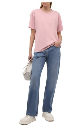 Женская хлопковая футболка NANUSHKA розового цвета, арт. REECE_PINK_0RGANIC JERSEY | Фото 2