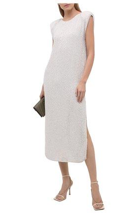Женское платье с пайетками ERIKA CAVALLINI кремвого цвета, арт. S1/E/E1SS01 | Фото 2