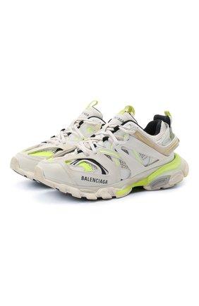 Женские комбинированные кроссовки track BALENCIAGA желтого цвета, арт. 542436/W1GC3 | Фото 1
