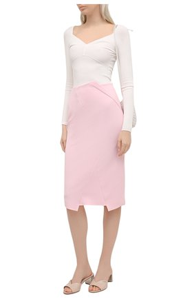 Женская юбка ROLAND MOURET светло-розового цвета, арт. SS21/S2224/F2196   Фото 2
