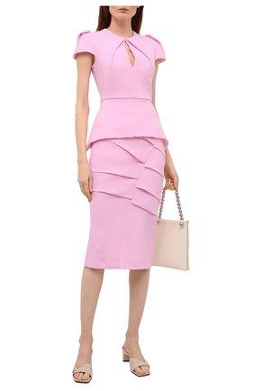 Женская шерстяная юбка ROLAND MOURET светло-розового цвета, арт. SS21/S2234/F0491   Фото 2