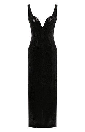 Женское платье с пайетками GALVAN LONDON черного цвета, арт. 220SEDR0066 | Фото 1