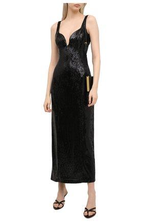 Женское платье с пайетками GALVAN LONDON черного цвета, арт. 220SEDR0066 | Фото 2