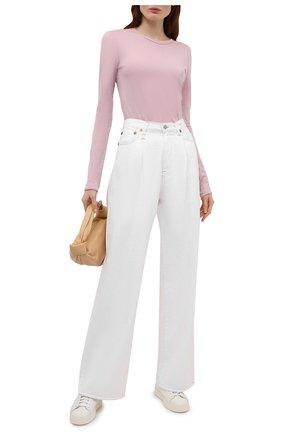 Женская хлопковый лонгслив RAG&BONE розового цвета, арт. WCC21ST082JB82 | Фото 2