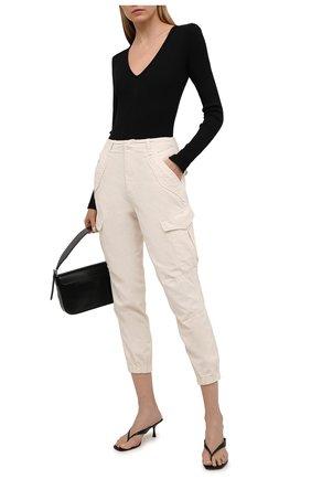 Женские хлопковые брюки RAG&BONE кремвого цвета, арт. WCW21S70003G00 | Фото 2