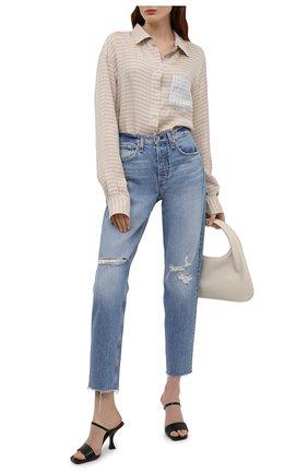 Женские джинсы RAG&BONE голубого цвета, арт. WDD21S2769B1HH | Фото 2