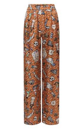 Женские шелковые брюки BURBERRY разноцветного цвета, арт. 8040086 | Фото 1