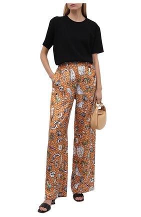 Женские шелковые брюки BURBERRY разноцветного цвета, арт. 8040086 | Фото 2