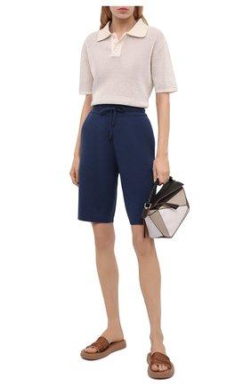 Женские кашемировые шорты BURBERRY синего цвета, арт. 8039162 | Фото 2