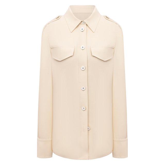 Рубашка из вискозы и шерсти Jil Sander