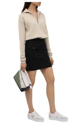 Женские кожаные кеды AXEL ARIGATO белого цвета, арт. 94595   Фото 2