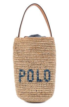 Женская сумка POLO RALPH LAUREN бежевого цвета, арт. 428798023   Фото 1