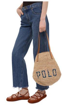 Женская сумка POLO RALPH LAUREN бежевого цвета, арт. 428746920   Фото 2