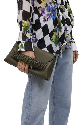 Женская сумка chouchou baguette ELLEME хаки цвета, арт. CH0UCH0U BAGUETTE/LEATHER | Фото 2
