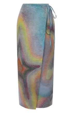 Женская льняная юбка ACNE STUDIOS разноцветного цвета, арт. AF0201   Фото 1