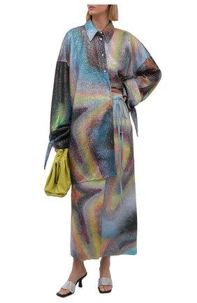 Женская льняная юбка ACNE STUDIOS разноцветного цвета, арт. AF0201   Фото 2