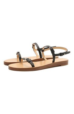 Женские кожаные сандалии GABRIELA HEARST черного цвета, арт. 2218332 SVC001 | Фото 1