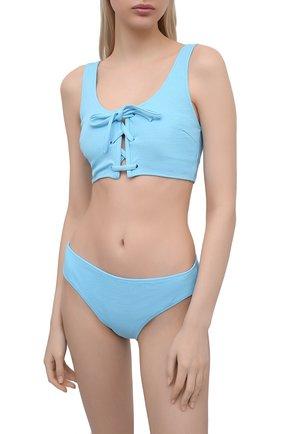 Женский плавки-бикини GANNI голубого цвета, арт. A3343 | Фото 2