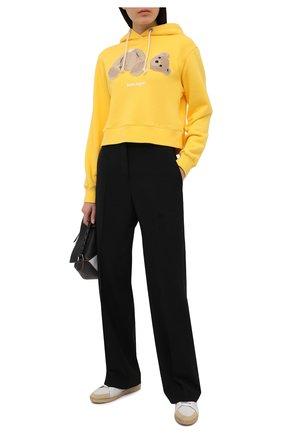 Женский хлопковое худи PALM ANGELS желтого цвета, арт. PWBB022S21FLE0011860   Фото 2