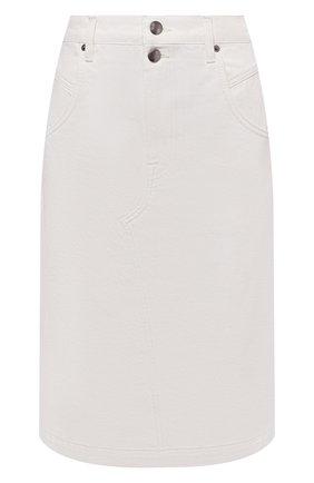 Женская джинсовая юбка FRAME DENIM белого цвета, арт. MMDSK171   Фото 1
