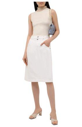 Женская джинсовая юбка FRAME DENIM белого цвета, арт. MMDSK171   Фото 2