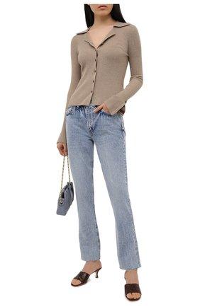Женские джинсы FRAME DENIM голубого цвета, арт. LPRWC385   Фото 2