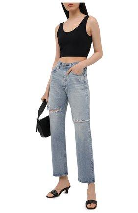 Женские джинсы MOUSSY голубого цвета, арт. 025ESC11-2630 | Фото 2