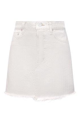 Женская джинсовая юбка MOUSSY белого цвета, арт. 025ESC11-1240 | Фото 1