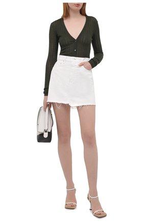 Женская джинсовая юбка MOUSSY белого цвета, арт. 025ESC11-1240 | Фото 2