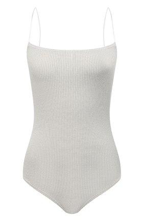 Женское хлопковое боди MOUSSY кремвого цвета, арт. 025ES370-0100 | Фото 1