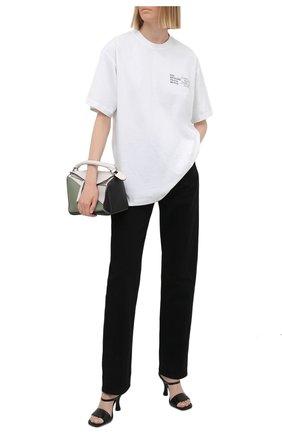Женская хлопковая футболка VETEMENTS белого цвета, арт. UA52TR120W 1602/W   Фото 2