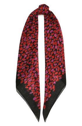 Женский шерстяной платок SAINT LAURENT фуксия цвета, арт. 659753/3Y200 | Фото 1