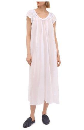Женская хлопковая сорочка EVA B.BITZER белого цвета, арт. 11313672   Фото 2