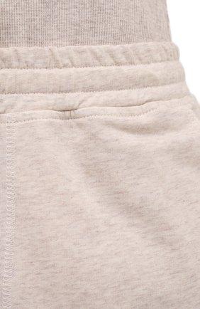 Женские шорты EVA B.BITZER бежевого цвета, арт. 11322945   Фото 5 (Длина Ж (юбки, платья, шорты): Мини; Женское Кросс-КТ: Домашние шорты; Материал внешний: Хлопок)
