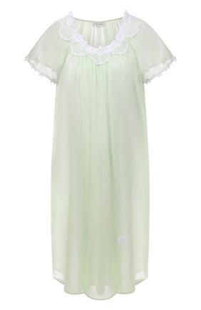 Женская хлопковая сорочка EVA B.BITZER светло-зеленого цвета, арт. 11313767   Фото 1